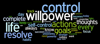 Control Willpower life resolve self-control word mashup picture