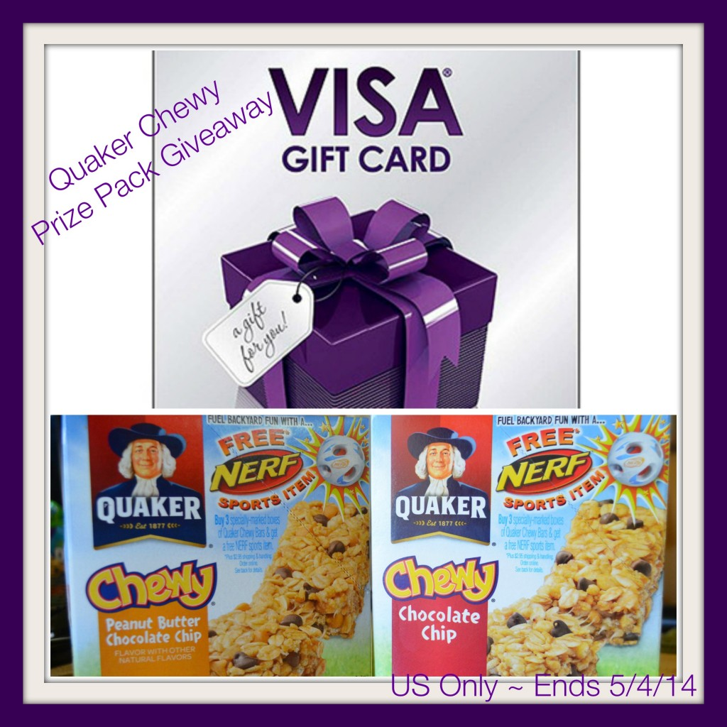 Quaker Chewy Prize Pack Giveaway