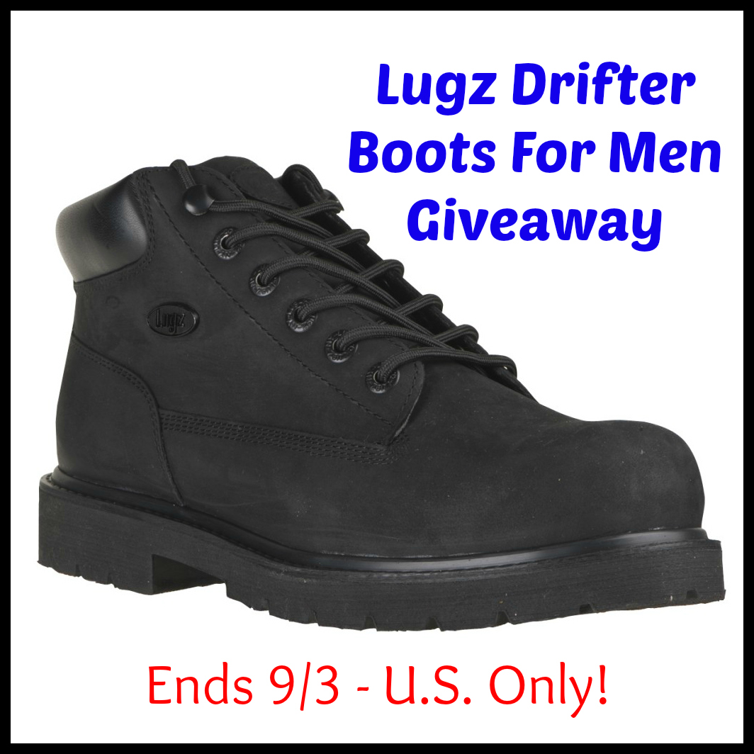 Lugz Drifter Boots For Men Giveaway (Ends 9/3 - U.S. Only!)