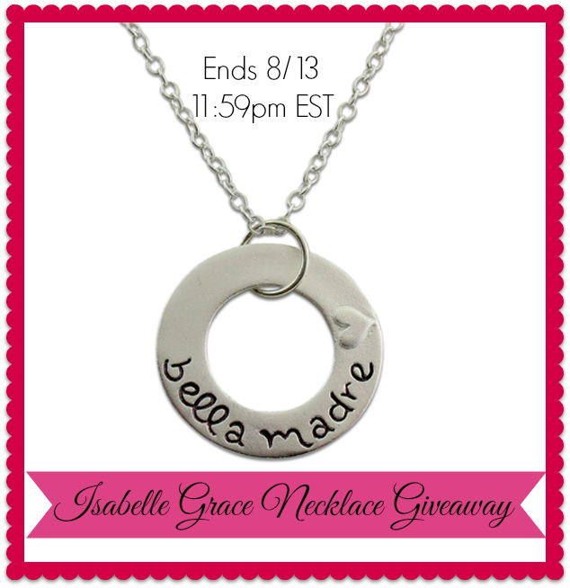 Isabelle Grace Bella Madre Necklace #Giveaway (Ends 8/13)   It's Free At Last