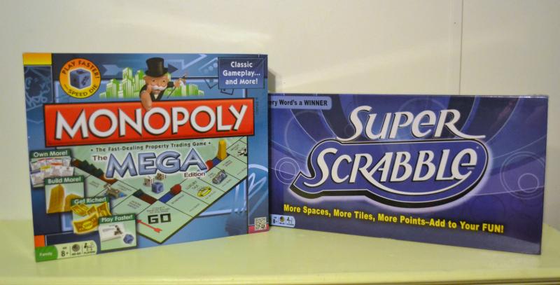 Mega Monopoly and Super Scrabble