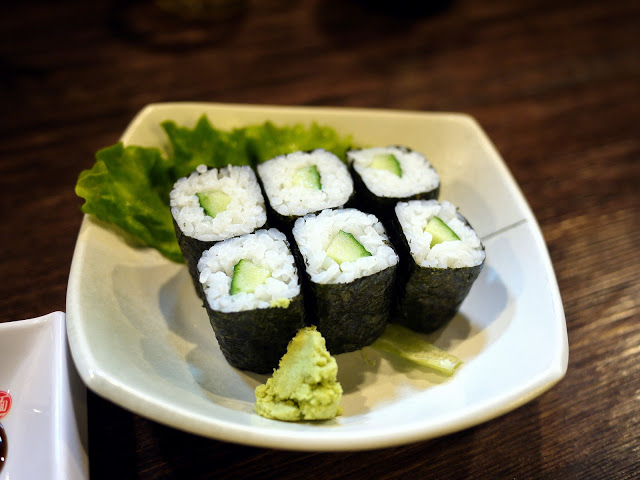Kappa maki (cucumber sushi)