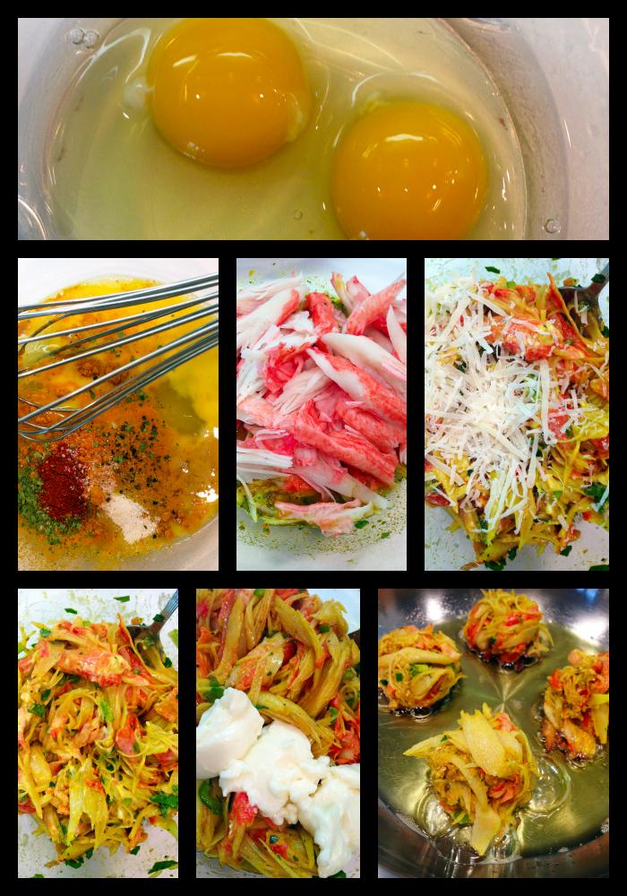 Crab Cake Preparation Collage