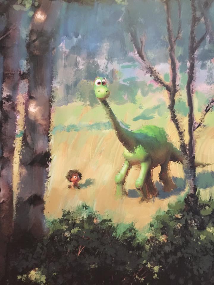The Good Dinosaur painting