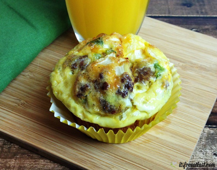 Sausage, Egg and Cheese Breakfast Muffins Recipe