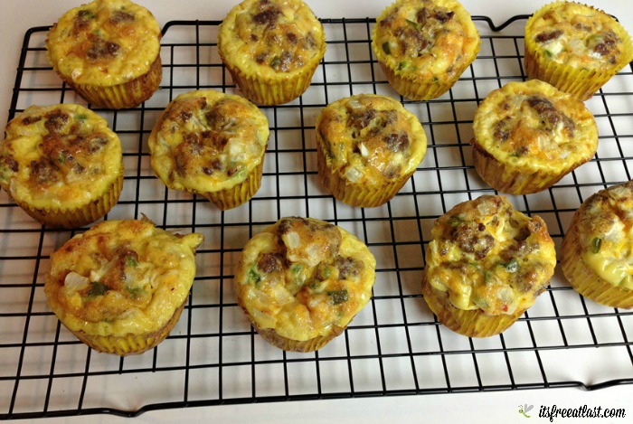 Sausage, Egg and Cheese Breakfast Muffins Recipe process