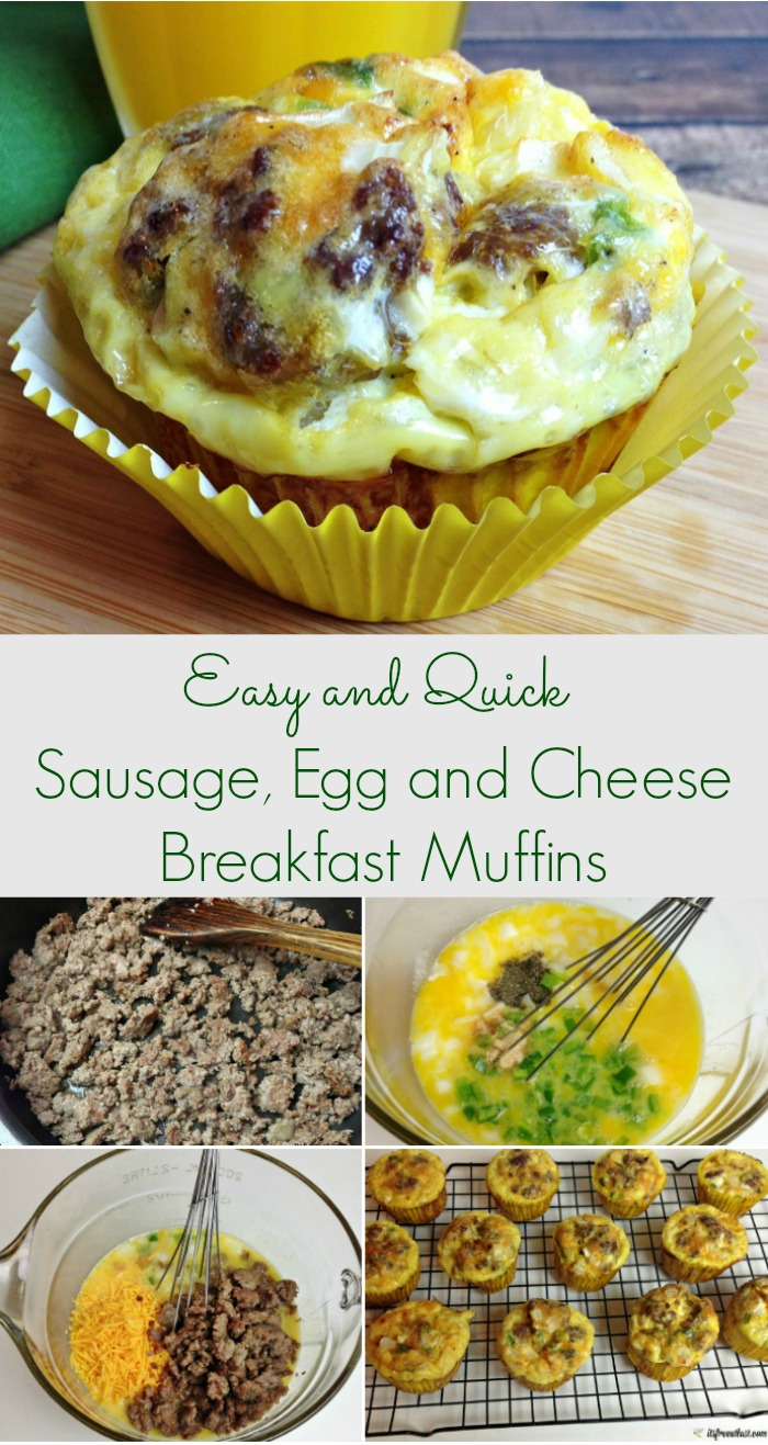 Sausage, Egg and Cheese Breakfast Muffins Recipe, The Perfect Easy Breakfast