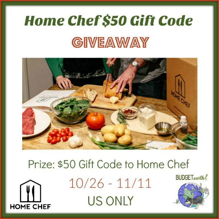 Home Chef $50 Gift Code Giveaway