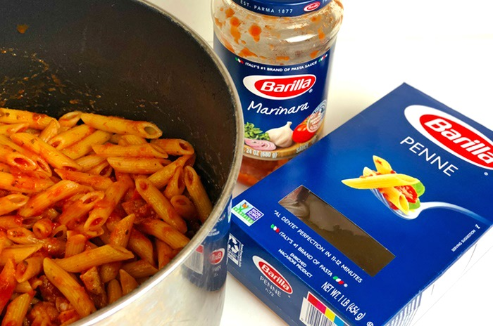 Cheesy Parmesan Chicken and Penne Pasta process