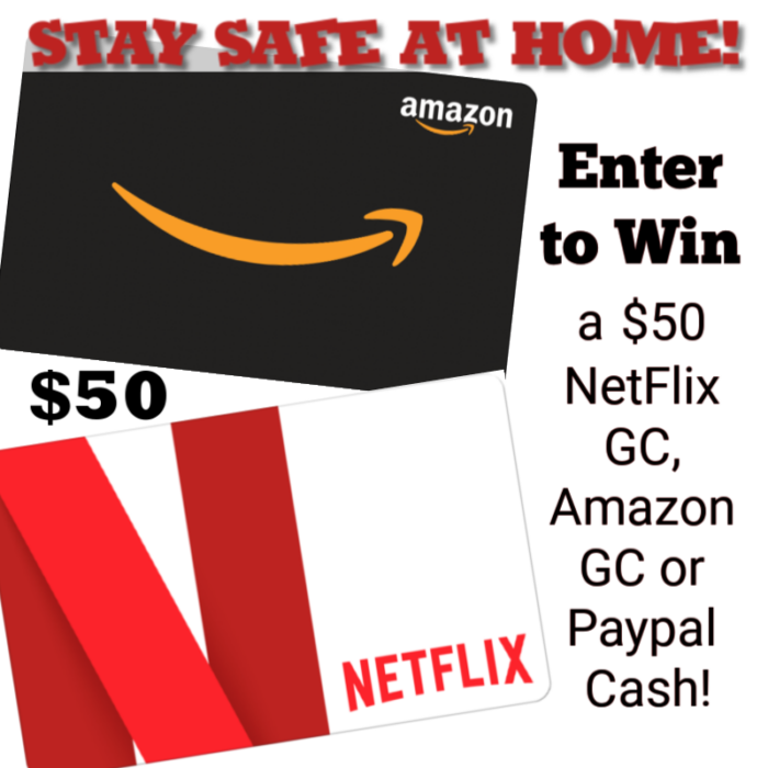Stay Safe at Home with this $50 Netflix/Amazon #Giveaway!