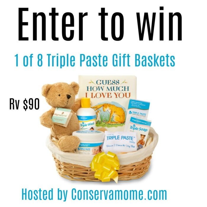 8 Winners- Triple Paste Baby Gift Baskets ($90 arv)