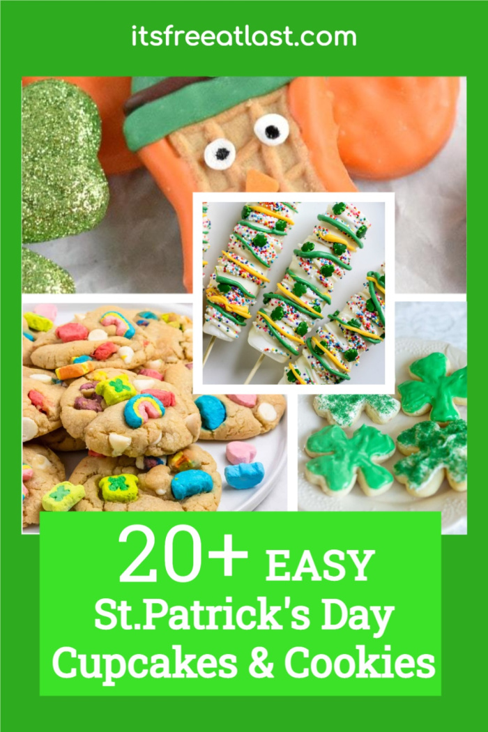 20+ Easy St. Patrick's Day Cupcakes & Cookies You Will Want to Make