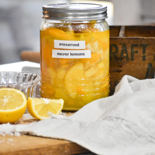 quick and easy preserved Meyer Lemons