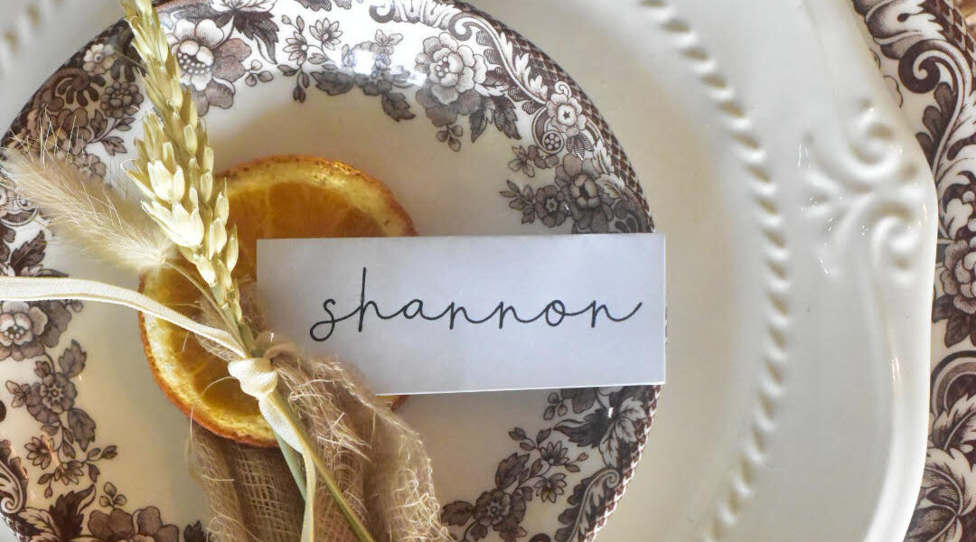 easy thanksgiving placecard Ideas