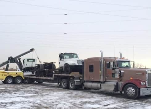 Aulick Industries Drop Deck Freight Hauling