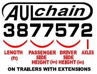 Aulick Chain Floor model numbers
