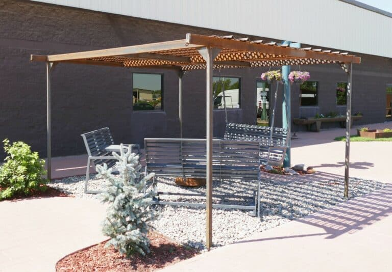 Aulick Industries Steel Pergola with Benches