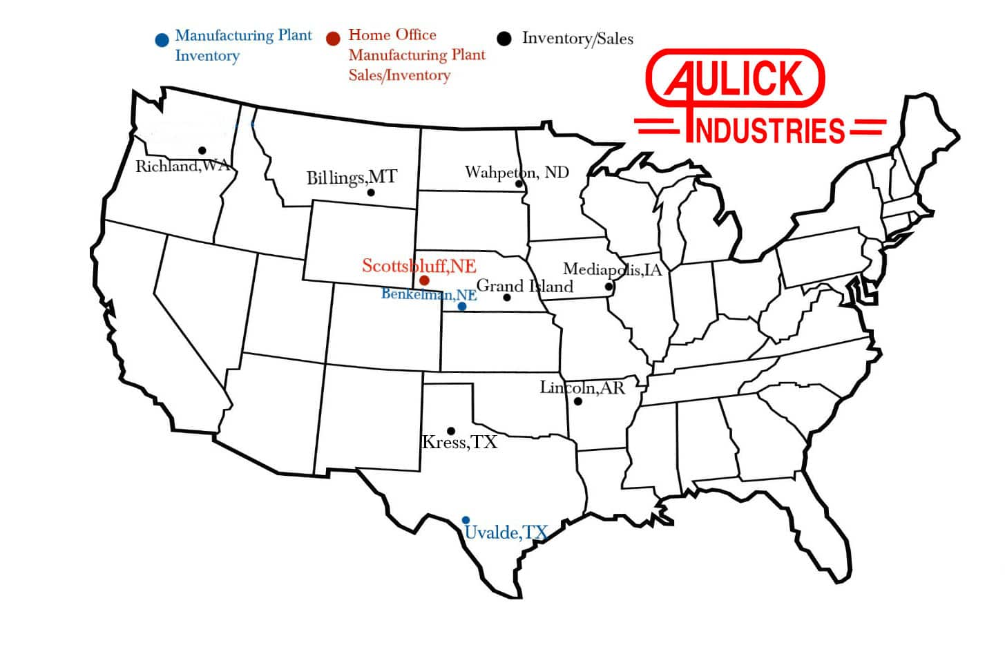 Aulick Industries Locations