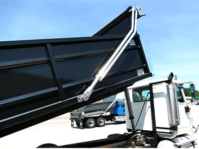 Asphalt Dump Truck Box with Tarp