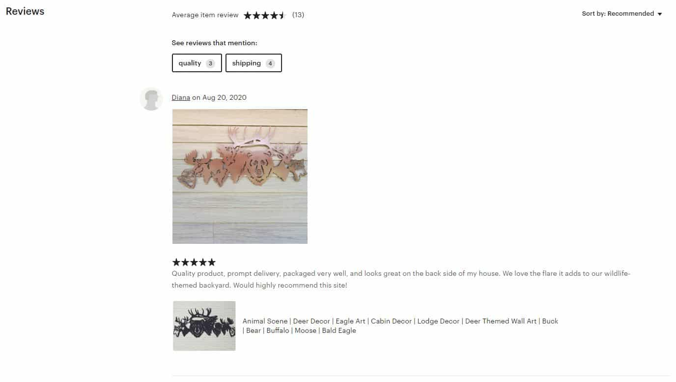 Aulick Etsy reviews
