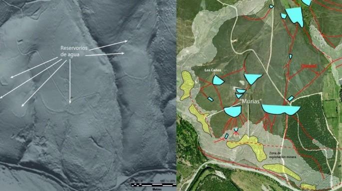 Ancient Roman gold mines in the Eria river valley (J. Fernández Lozano et al)