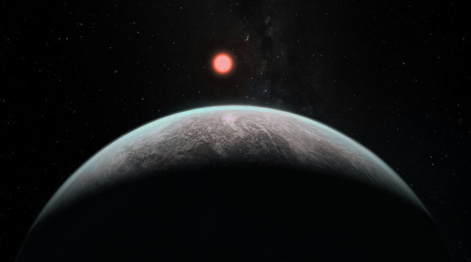 Earth-like planets: Artist's impression of how an infant Earth-like planet might look (ESO)