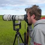 Max Goldberg in the field