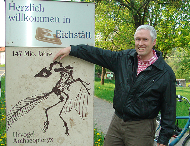 the author visits the Eichstätt Germany area where the Archaeopteryx fossils have all been found
