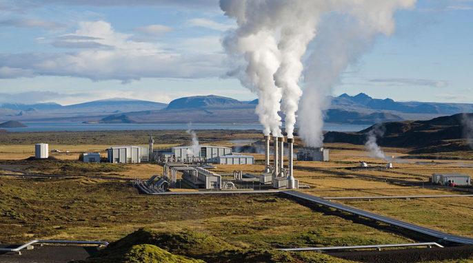 Carbon Capture: Photo of Nesjavellir Geothermal Power Station courtesy of Gretar Ivarsson via Wikipedia