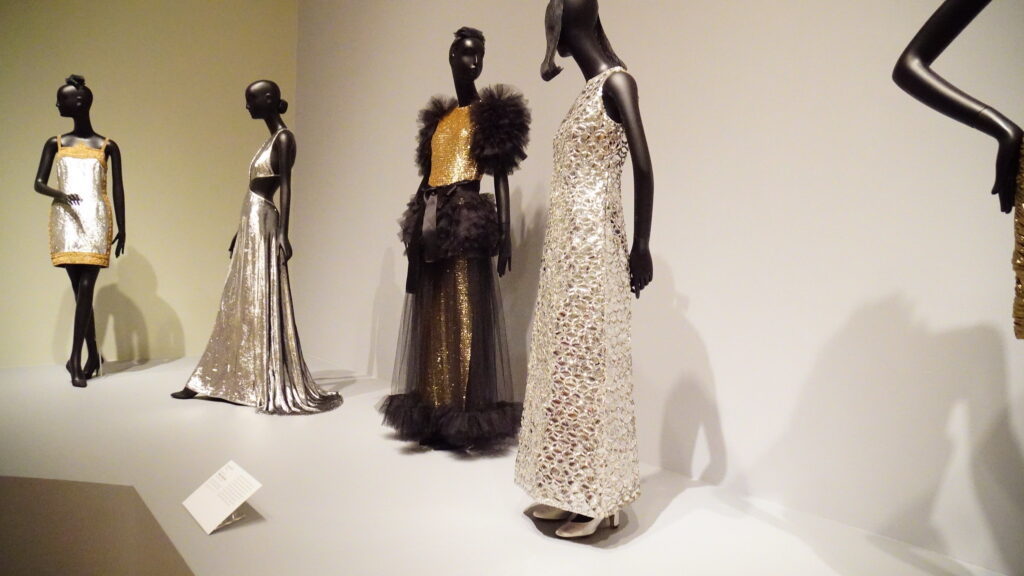 1961 clothing made from synthetic fabrics and plastic sequins