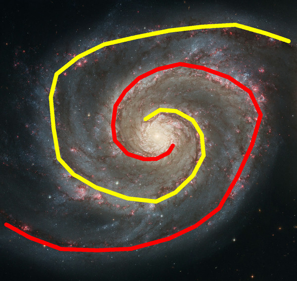 Spiral Graph asks users to trace out the shape of a spiral galaxy's arms, giving astronomers a potential proxy for studying a number of other properties. That may include things like the size of supermassive black holes, and the overall mass of its dark matter and stars. (Spiral Graph/NASA, ESA, S. Beckwith (STScI), Hubble Heritage Team (STScI/AURA)