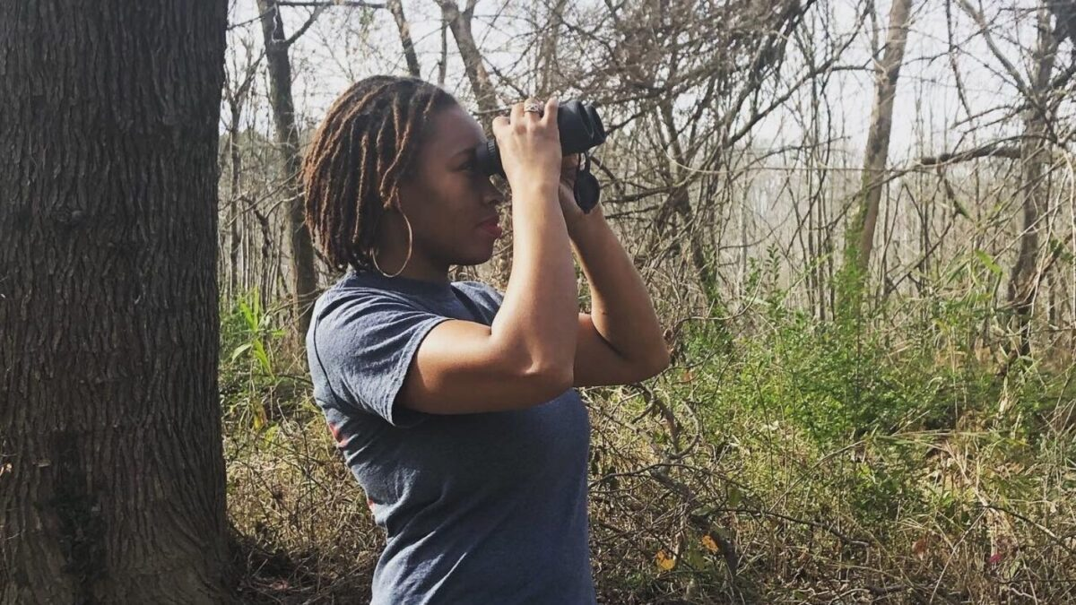 Black Birders: Deja Perkins, a graduate student using citizen science to research birds, is one of the organizers of Black Birders Week. (Credit: North Carolina State University)