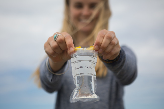 Citizen scientists work with the Blue Water Task Force to collect water samples all along U.S. coasts. Those results are shared with the public, so people know if their local water is safe. (Credit: Surfrider)