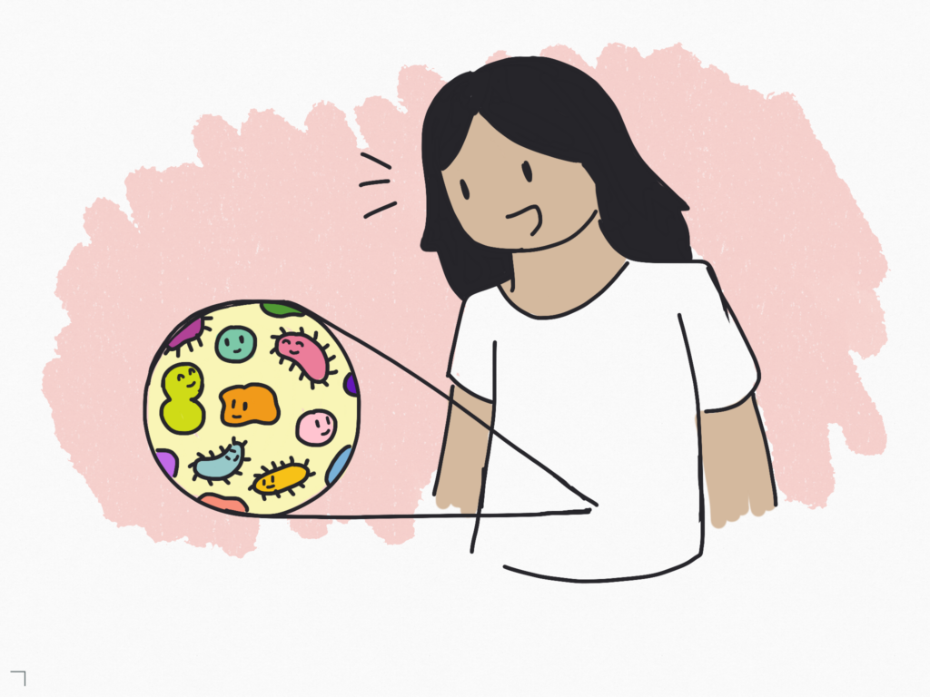 Your intestinal tract is home to a diverse community of microorganisms.