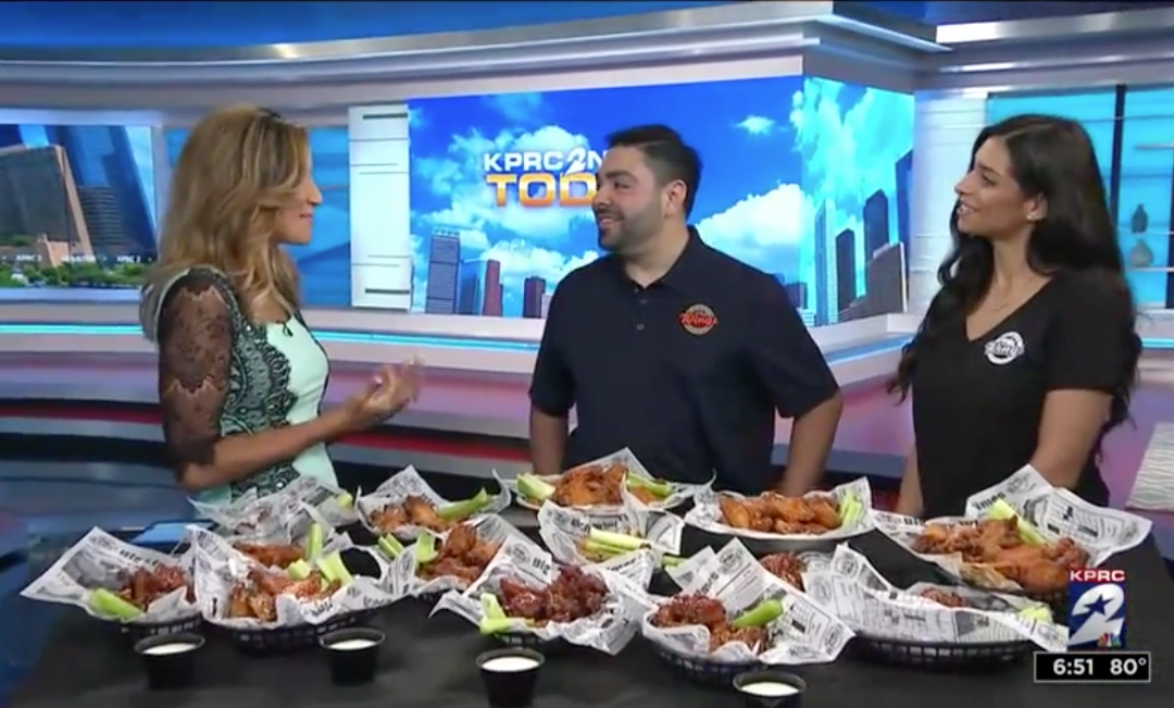 KPRC-TV/NBC Showcases the Delicious Big City Wings for National Wing Day