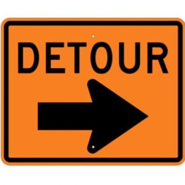 Construction Work and Detour beginning on Monday – April 5, 2021