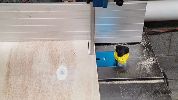 making the sides of the dust collection cart