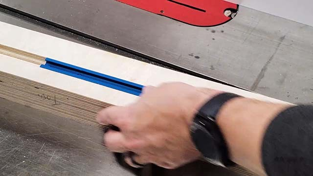 adding track to the cross cut sled