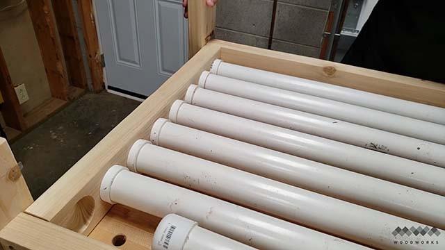 assembling the clamp rack