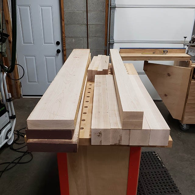 making the aprons for the lathe stand
