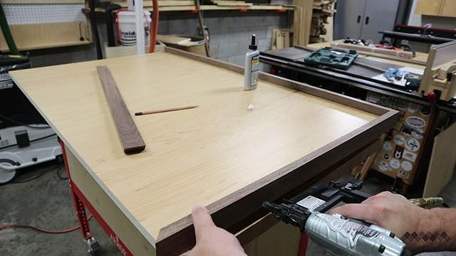 adding trim to custom tool wall