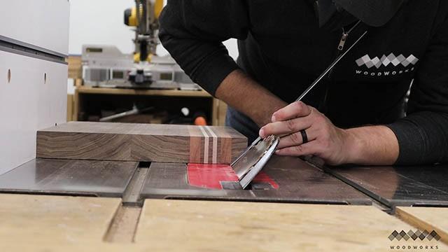 cutting bevels in cutting board