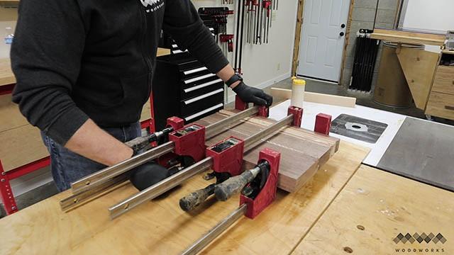 cutting board glue up