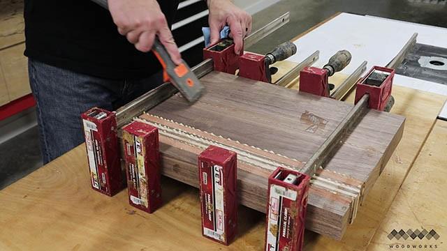 scraping glue from cutting board