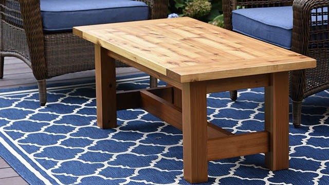 diy outdoor coffee table