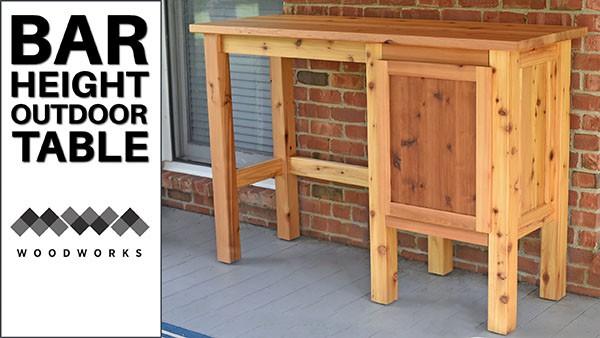 bar height table