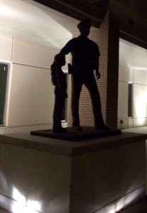 The Monument in Front of the Pearland Public Safety Building