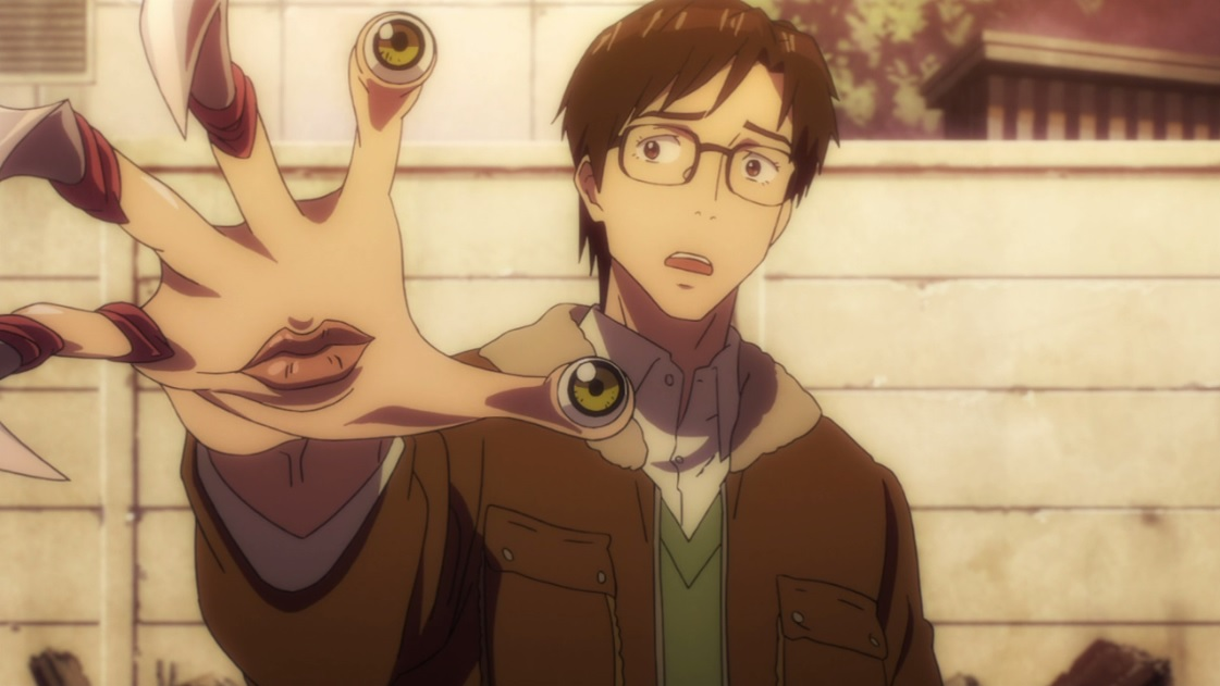 Picture of Izumi and Migi from the anime Parasyte