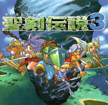 Seiken Densetsu box cover art for the Super Famicon