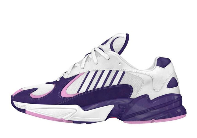 Photo of the purple and white Frieza Adidas shoes
